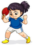 A female Asian playing tabletennis Royalty Free Stock Photo