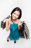 Female asian shopper Stock Images