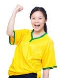 Female asian soccer fans Stock Photos