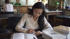 Female asian student lawyer in white shirt