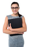 Female assistant holding office file Stock Photography