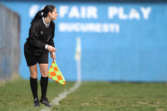 Female assistant referee Stock Photos