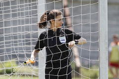Female assistant referee Stock Images