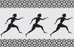 Female athlete. Seamless image female athlete stock illustration