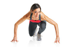 A female athlete Royalty Free Stock Photography