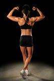 Female Athlete Flexing Royalty Free Stock Photo