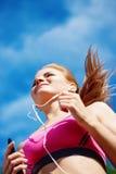 Female athlete jogging Stock Photo