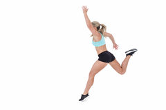 Female athlete jumping Royalty Free Stock Photography