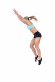 Female athlete jumping Stock Image