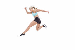 Female athlete jumping Stock Photo