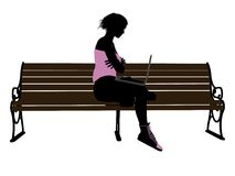 Female Athlete With A Laptop Sil Stock Photos