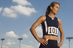Female Athlete Looking Away Stock Images