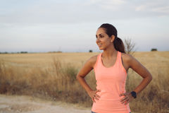 Female athlete on outdoor workout Stock Photo