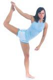 Female athlete performing balance exercise Royalty Free Stock Image