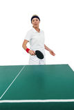 Female athlete playing table tennis Royalty Free Stock Photos