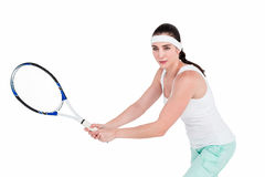 Female athlete playing tennis Royalty Free Stock Image
