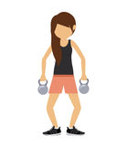 Female athlete practicing weight lifting Royalty Free Stock Photo