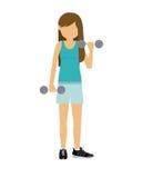 Female athlete practicing weight lifting Stock Image