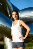 Female athlete ready for running and outdoor workout Royalty Free Stock Photography