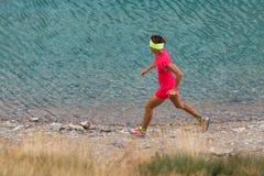 Female athlete running royalty free stock photos