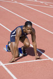 Female Athlete In Starting Position Stock Photos