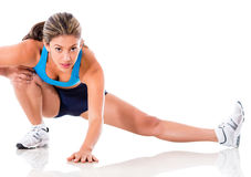 Female athlete stretching Stock Image