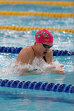 Female athlete in swimming competitions Stock Image