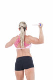 Female athlete throwing a javelin Royalty Free Stock Photo