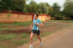 Female athlete training stock images