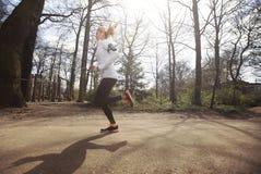 Female athlete training outdoor Stock Images