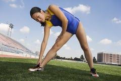 Free Female Athlete Warming Up Royalty Free Stock Photo - 29655055