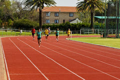 Female Athletes Running Royalty Free Stock Photos