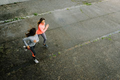 Female athletes running Royalty Free Stock Photography
