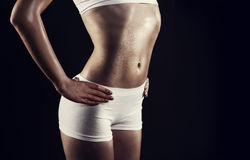 Female athletic body Royalty Free Stock Images