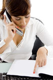 Female attorney recieving phone call Stock Photography