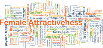 Female attractiveness background concept Stock Images