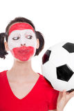 Female austria soccer fan Royalty Free Stock Photography