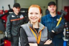 Female automobile auto mechanic Stock Image