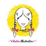 Female avatar Stock Image