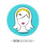 Female avatar Royalty Free Stock Image