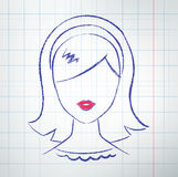 Female avatar Royalty Free Stock Images