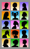Female Avatar Silhouettes Royalty Free Stock Photo