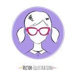 Female avatar Royalty Free Stock Photography