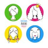Female avatars Stock Photos