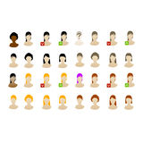 Female avatars icon set vectored Royalty Free Stock Image