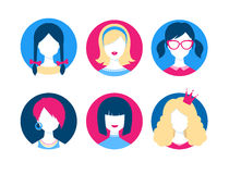 Female avatars Stock Photos
