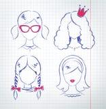 Female avatars vector set Royalty Free Stock Image