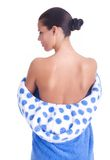 Female back. Naked back of a beautiful woman stock photography