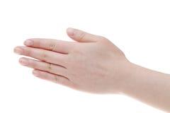 Female back hands Stock Image