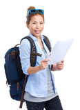 Female with backpack Stock Image